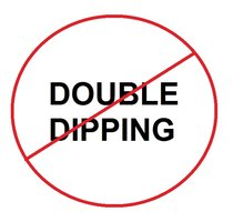 NO DOUBLE DIPPING!