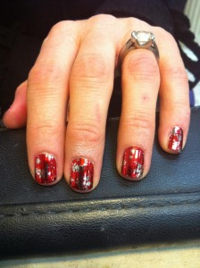 Minx Nails in Hot Red