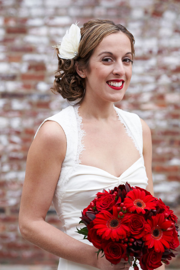 Downtown Brooklyn bride's hair + makeup by Eden Di Bianco