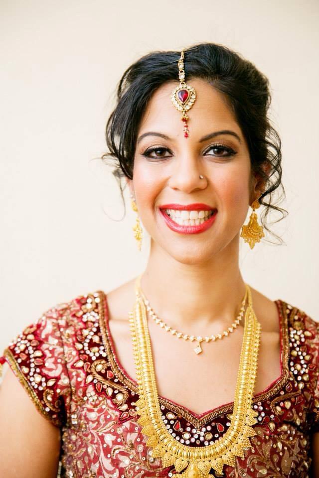 Indian wedding makeup + hair