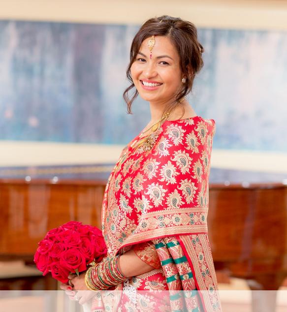 Nepali bride hair + makeup by Eden Di Bianco