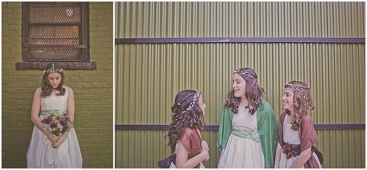 Brooklyn Wedding flower girl hair by Eden Di Bianco